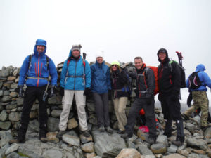 Team photo Scafell Pike