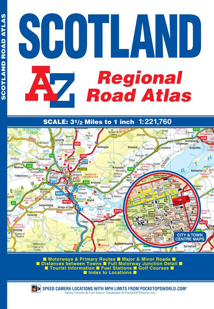 Scotland regional road atlas