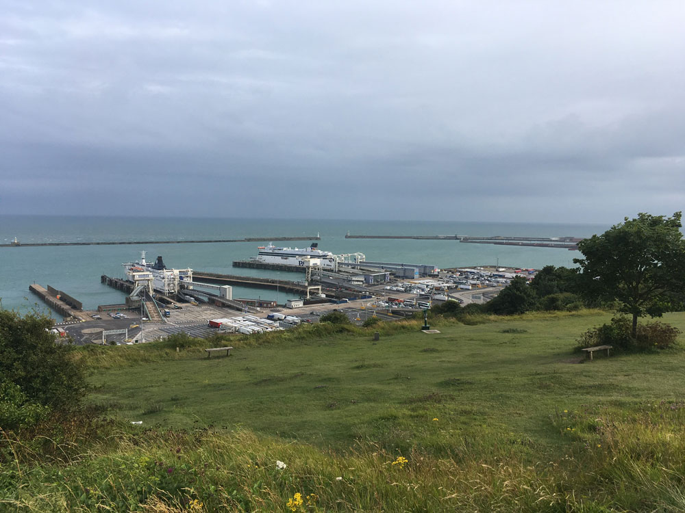 Dover Cliffs and the Port of Dover