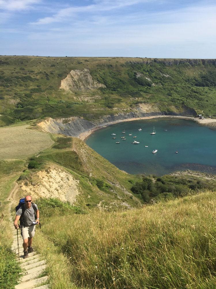 Climbing Houns-tout from Chapman's Pool Dorset SWCP