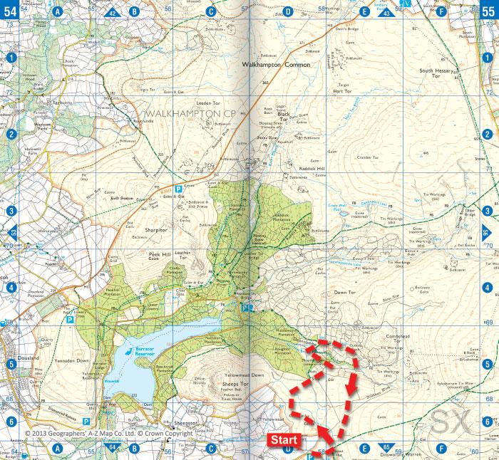 Cuckoo Rock Dartmoor Walk