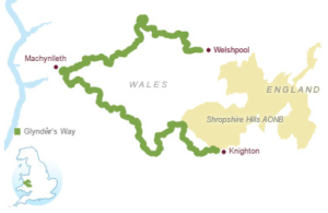 start and finish of Glyndŵr's Way