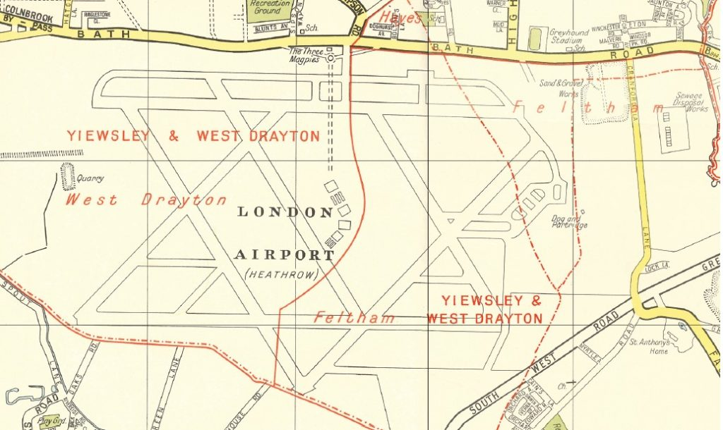 Map of Heathrow Airport from 1936
