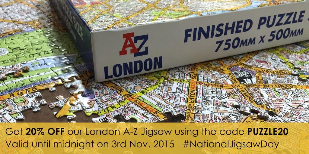London A-Z map jigsaw