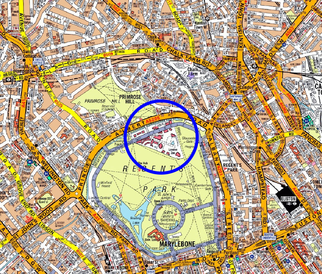 London Zoo Location