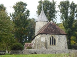 Tiny historic church, Southease, South Downs Way