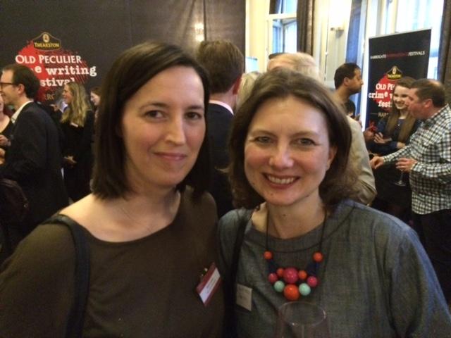 Beth Lewis and her editor Sarah Hodgson 2