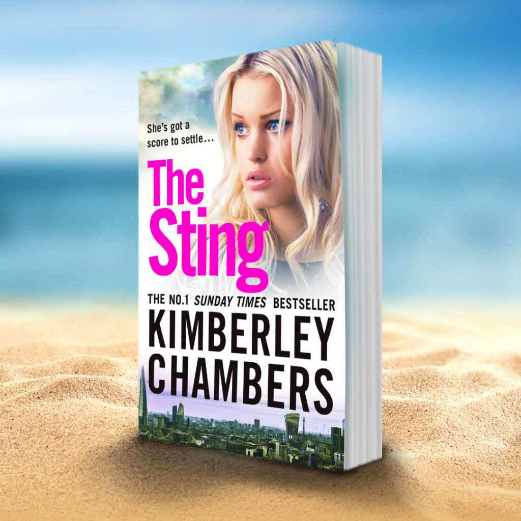 The Sting book on beach