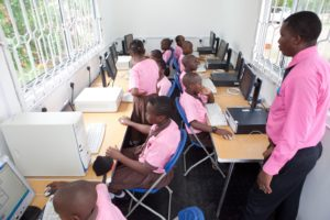 Shipping container converted in to a fully functional classroom