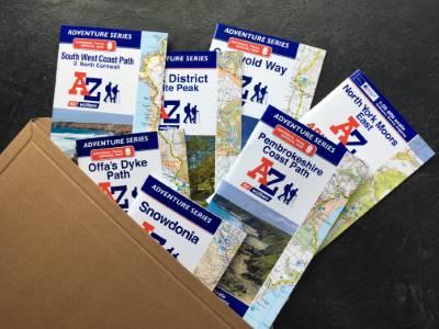 A-Z Adventure walking maps range