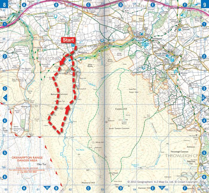 Belstone Tor Dartmoor Walk