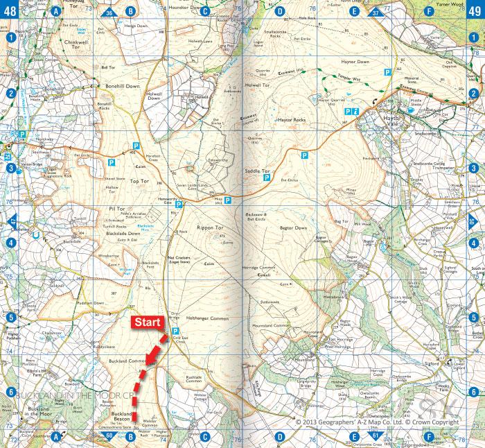 Buckland Beacon Dartmoor Walk
