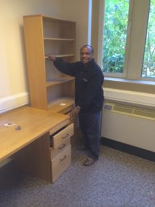 Donated furniture being moved from our offices by Computers 4 Africa