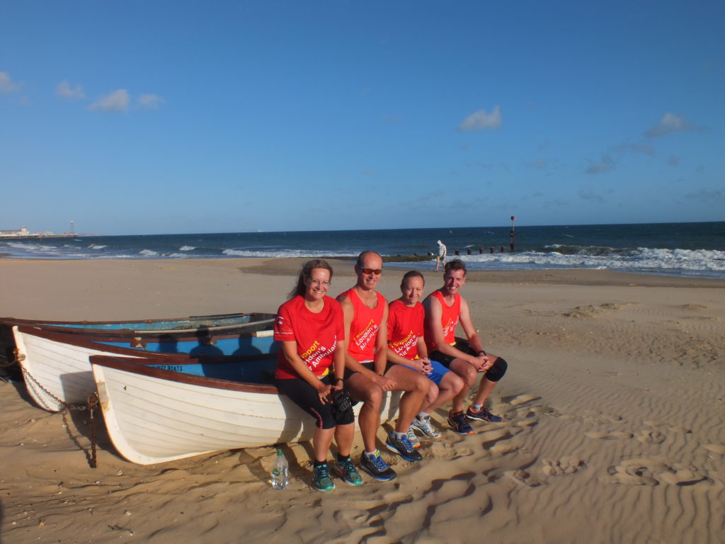 Team recovery on the beach
