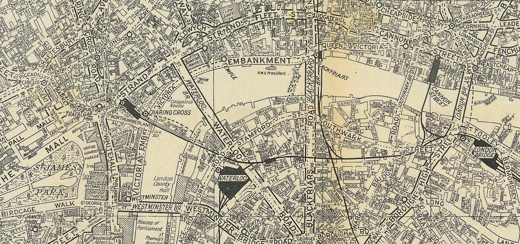 A 1936 map of London
