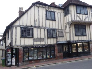 Fifteenth Century Bookshop, Lewes, near the South Downs Way