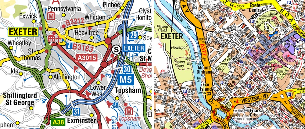 A-Z road and street mapping