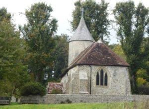 Tiny historic church, Southease, South Downs Way