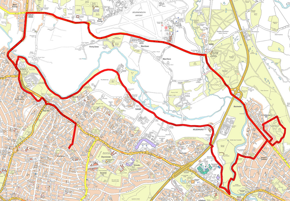 Steve's Route Bournemouth Marathon Training