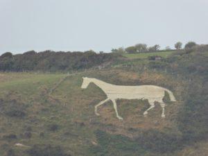 Littlington White Horse, South Downs Way