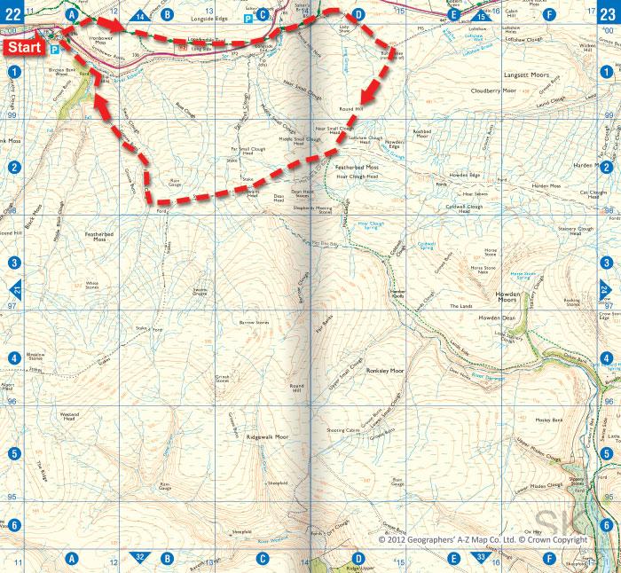 Woodhead © Crown Copyright © 2012 Geographers' A-Z Map Co. Ltd.