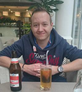 Phil Stephenson before training for the Bournemouth Marathon 2016