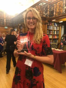 Rachel Faulkner-Wilcocks accepts Publisher of the Year award