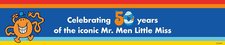 Mr Men 50th Anniversary banner